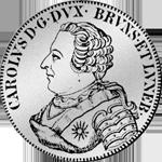 2/3 Reichs Taler Münze Silber 1737