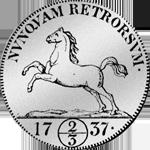 2/3 Reichs Taler 1737 Münze Silber Rückseite