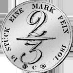 2/3 Taler Reichs Münze Silber 1801
