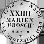 2/3 Silber Taler Reichs Münz 1795