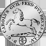2/3 Taler Reichs Münze Silber Rückseite 1795