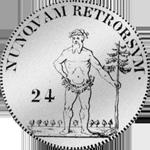 Münze Silber 2/3 Reichs Taler 1764 Rückseite