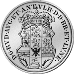 Rückseite 1696 2/3 Reichs Taler Münze Silber