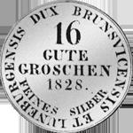 Münze Silber 1828 Gulden Stück