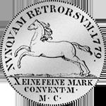 Spezies Taler Konventions 1779 Silber Münze Rückseite