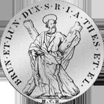 Silber Andreas Taler Münze 1719