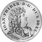 2/3 Reichs Taler Silber Münze 1678