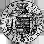 Rückseite Münze Silber Reichs Kurant Taler 1850
