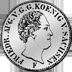 Münze Silber Reichs Kurant Taler 1847 1/6
