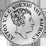 1/6 Kurant Reichs Taler Silber Münze 1829