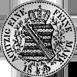 Münze Silber 1/6 Kurant Reichs Taler 1829