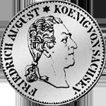 Reichs Kurant Taler Silber Münze 1827 1/6