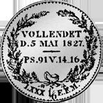 1/6 Silber Münze Rückseite Reichs oder Kurant Taler 1827