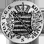 Münze Silber 1/12 Reichs Kurant Taler 1827
