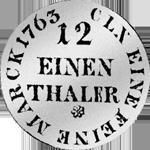 Münze Silber 1/12 Reichs Kurant Taler 1763