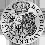 Rückseite Taler Reichs Kurant Münze Silber 1763