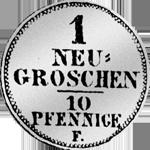 Münze Silber 1/30 Kurant Reichs Taler 1850