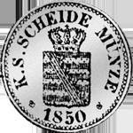 Rückseite 1/30 Kurant Reichs Taler 1850 Münze Silber