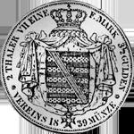 Rückseite Taler Silber Münze Vereins Stück 1839 2