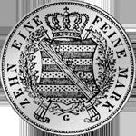 Münze Sterbe Taler Silber Anton Juni 1836 Rückseite