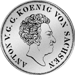 Konventions Spezies Taler Münze Silber 1835