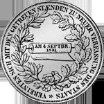 Rückseite Silber Münze Konstitutions Taler 1831