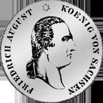 Silber Münze Konventions Spezies Taler 1827