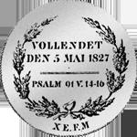 Münze Taler Silber Spezies Konventions 1827 Rückseite
