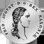 Konventions Spezies Taler Silber Münze 1808