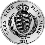Taler Silber Münze Spezies Konventions 1821