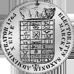 Münze Rückseite Silber Spezies Taler Konventions 1765