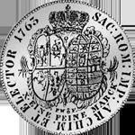 Rückseite Silber Taler Konventions Spezies 1765