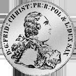 Konventions Spezies Taler Silber Münze 1763