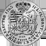 Rückseite Münze Konventions Silber Spezies Taler 1763