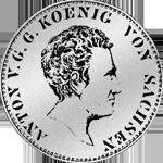 Gulden Münze Silber Stück Spezies Taler 1/2 1829