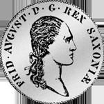 1/2 Spezies Taler Gulden Stück Silber Münze 1813