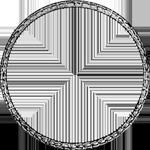 Umrandung Silber Münze 1/2 Spezies Taler Gulden Stück 1813