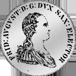 Münze Silber Gulden Stück Spezies Taler 1765