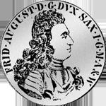 1/2 Spezies Taler Gulden Stück Silber Münze 1696