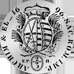 Rückseite Silber Münze 1/2 Spezies Taler Gulden Stück 1696