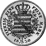 Rückseite Silber Münze Reichs Taler 1/3 1830