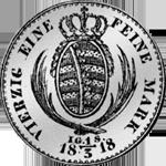 1818 Taler Reichs 1/3 Münze Silber
