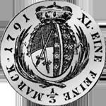 1791 Taler Reich 1/3 Silber Münze