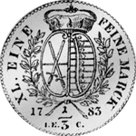 Münze Silber 1/3 Reichs Taler 1783