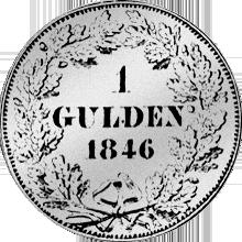 Rückseite Gulden Gold Stück Münze 1746
