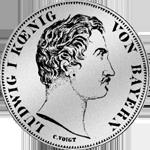 2 Gulden Stück Silber Münze 1848