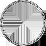 Umrandung 2 Gulden Stück Silber Münze 1848