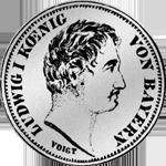 Gulden Silber 1/2 Münze Stück 1844