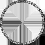 Umrandung Münze Silber 1/2 Gulden Stück 1844