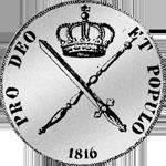 Silber Rückseite Münze Kronen Taler 1816